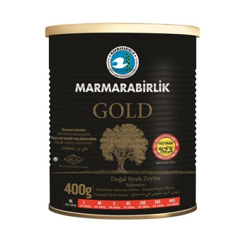 400 Gr GOLD (XL) %2,5 Az Tuzlu Siyah Zeytin (Yeni Ürün)