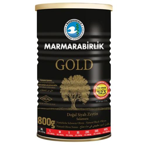 800 Gr GOLD (XL) %2,5 Az Tuzlu Siyah Zeytin