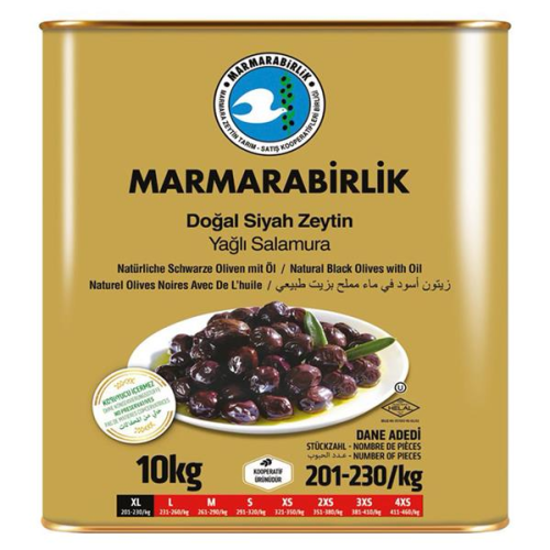 10 Kg (XL) Yağlı Salamura Siyah Zeytin